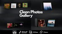 پروژه افترافکت گالری عکس Clean Photos Gallery