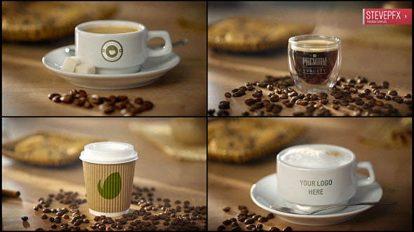 پروژه افترافکت موکاپ فنجان قهوه Coffee AE Mockup