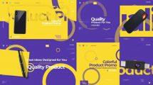 پروژه افترافکت تیزر تبلیغاتی محصولات Colorful Product Promo