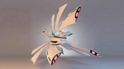 مدل سه بعدی فضاپیما Concept of Spaceship Crow