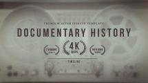 پروژه افترافکت تایم لاین برای مستند Documentary History Timeline