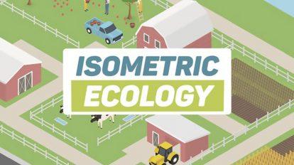 پروژه افترافکت مجموعه موشن ایزومتریک انرژی سبز Ecology Isometric