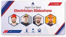 پروژه افترافکت اسلایدشو معرفی خدمات فنی Electrical Services Slideshow