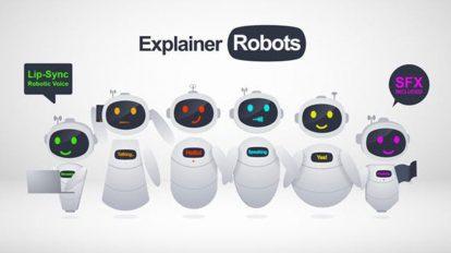 پروژه افترافکت ساخت تیزر تبلیغاتی با کاراکتر ربات Explainer Robots
