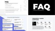 پروژه افترافکت نمایش سوال و جواب FAQ Questions Answers