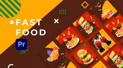 پروژه پریمیر تیزر تبلیغاتی فست فود Food Product Promo