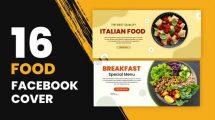 پروژه افترافکت کاور فیسبوک برای غذا Food Facebook Cover