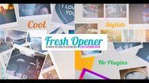 پروژه افترافکت افتتاحیه با نمایش عکس Fresh Opener