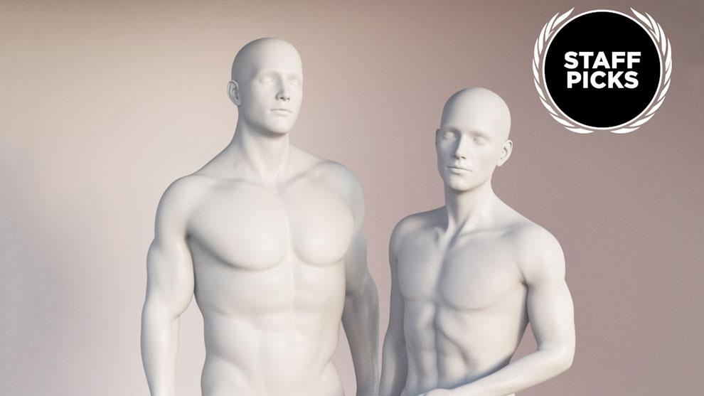 مجموعه مورف بدن برای کاراکتر Genesis 8 Male Body Morph