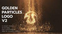 پروژه افترافکت نمایش لوگو با ذرات طلایی Golden Particles Logo