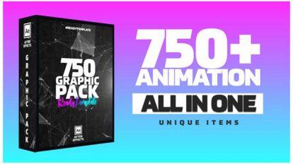 پروژه افترافکت مجموعه موشن گرافیک Graphics Pack