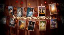 پروژه افترافکت اسلایدشو با کارت پستال Hanging Postcards Slideshow