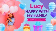 پروژه افترافکت تبریک تولد دختر Happy Birthday Lucy