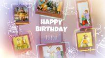 پروژه داوینچی تبریک تولد Happy Birthday Photo Frames