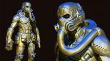 آموزش ساخت کاراکتر رباتیک در زیبراش Hard Surface Character Creation in Zbrush