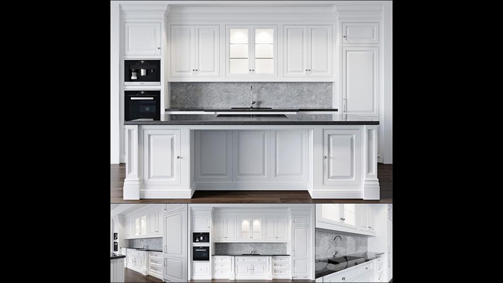 مدل سه بعدی آشپزخانه Kitchen