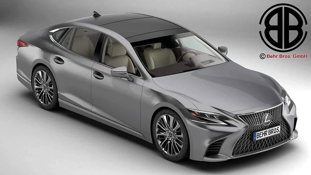 مدل سه بعدی خودرو لکسوس Lexus LS 500