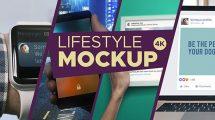 پروژه افترافکت مجموعه موکاپ تجهیزات دیجیتال Lifestyle Mockup