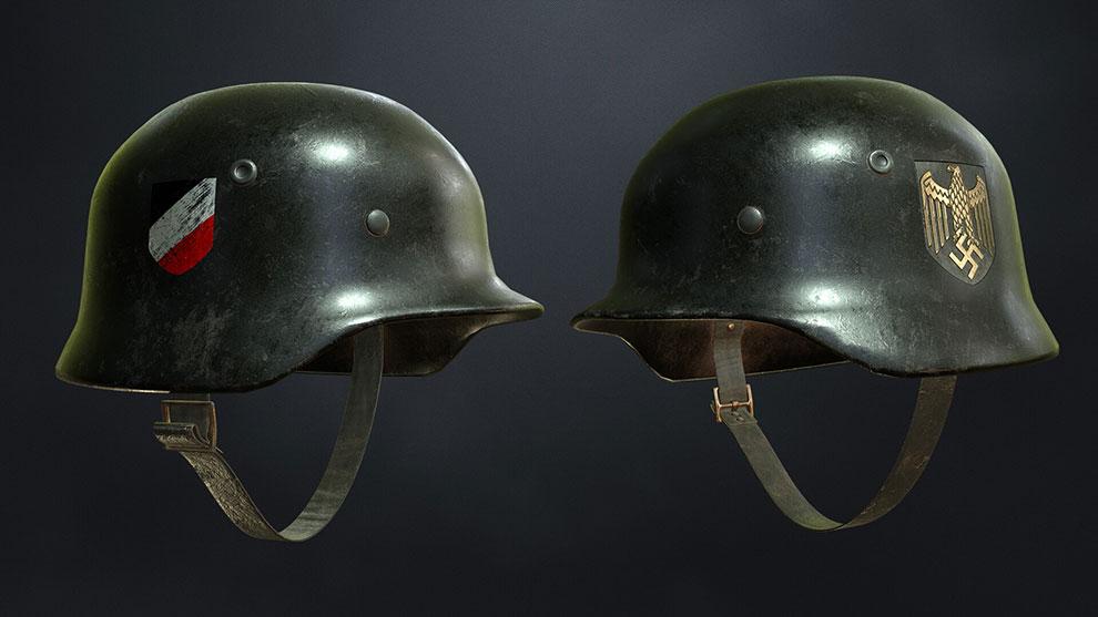 مدل سه بعدی کلاه جنگی M40 Stahlhelm