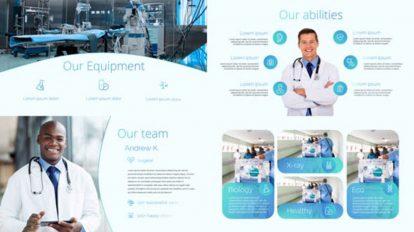 پروژه افترافکت پرزنتیشن مرکز درمانی Medical Center Presentation