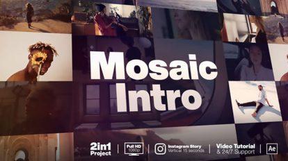 پروژه افترافکت اینترو با موزاییک تصاویر Mosaic Intro