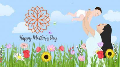 پروژه افترافکت نمایش لوگو با موضوع روز مادر Mothers Day Reveal
