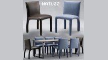 مدل سه بعدی میز و صندلی Natuzzi Italia Table Chair