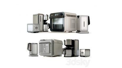 مجموعه مدل سه بعدی لوازم آشپزخانه پاناسونیک Panasonic Kitchen Set