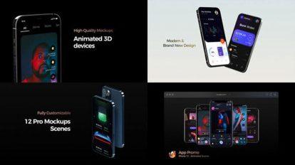 پروژه افترافکت تیزر تبلیغاتی آیفون Phone 12 App Promo