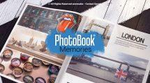 پروژه افترافکت نمایش عکس در آلبوم Photobook Memories