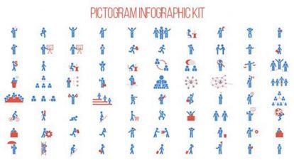 پروژه افترافکت مجموعه اینفوگرافیک پیکتوگرام Pictogram Infographic Kit