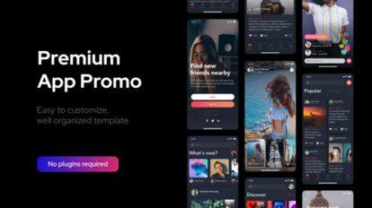 پروژه افترافکت تیزر تبلیغاتی اپلیکیشن Premium Clean App Promo