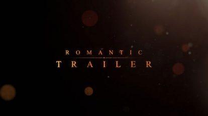 پروژه افترافکت نمایش عناوین رومانتیک Romantic Trailer Titles