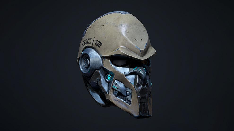 مدل سه بعدی کلاه رباتیک Sci-Fi Helmet