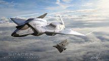 مدل سه بعدی جنگنده فضایی SpaceX Trident Star Fighter