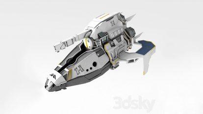مدل سه بعدی فضاپیما Spaceship