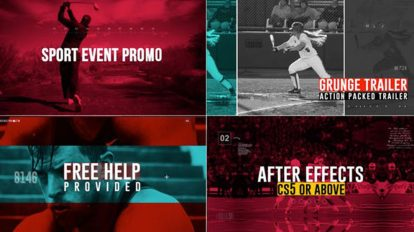 پروژه افترافکت تیزر تبلیغاتی ورزشی Sport Event Promo
