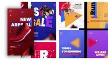 پروژه افترافکت مجموعه استوری فروشگاه Target Shop Stories