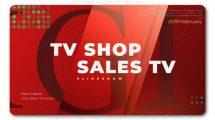 پروژه افترافکت اسلایدشو فروش محصولات TV Shop Sales Slideshow
