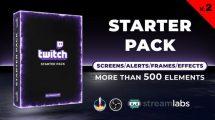 پروژه افترافکت اجزای استریم آنلاین Twitch Starter Pack