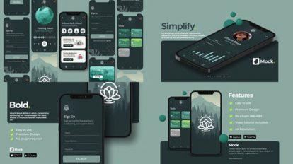 پروژه افترافکت موکاپ اپلیکیشن Universal App Mockup