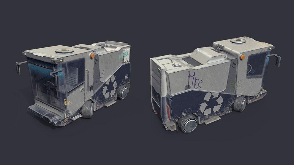 مدل سه بعدی خودرو شهرداری Urban Utility Vehicle