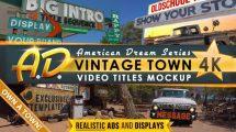 پروژه افترافکت تیزر تبلیغاتی با اجزای شهر قدیمی Vintage Town Titles