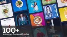 پروژه افترافکت مجموعه پست و استوری اینستاگرام Instagram Posts and Stories