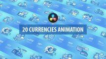 پروژه داوینچی مجموعه موشن ارز دیجیتال Currencies Animated Davinci Resolve