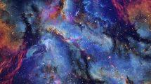 فوتیج موشن گرافیک حرکت در کهکشان Space Travel