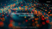 پروژه افترافکت نمایش عناوین با ذرات پارتیکلی Abstract Particles Titles