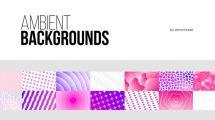 پروژه افترافکت مجموعه زمینه های متحرک Ambient Backgrounds