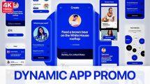 پروژه افترافکت تیزر تبلیغاتی اپلیکیشن Dynamic App Promo