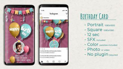 پروژه افترافکت کارت دعوت تولد Birthday Card